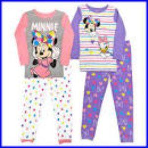 AME Character Kids 4-piece Pajama, Disney Minnie